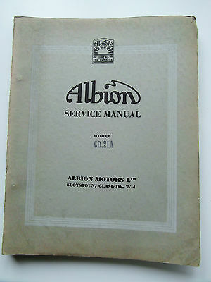 Albion CD.21A + CD.23A Circa 1962 Clydesdale Chassis Service Manual VGC
