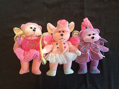 Beanie Kids Fairies Wings X3 (no Tags!)