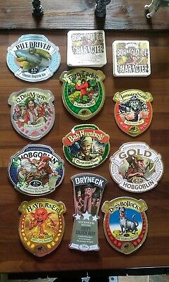 Lot # 2 Set of 10 x Wychwood Beer Real Ale Pump Clips Badges Hobgoblin Beermats