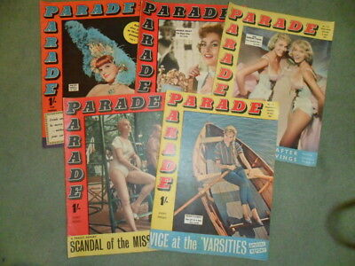 Five 1961/3 Parade Magazines