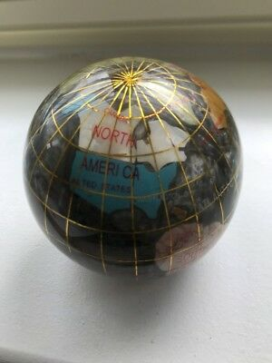 Ceramic World Globe Paperweight