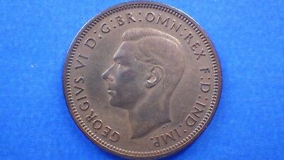 Toned circulated King George VI 1937 half penny - jwhitt60 coins