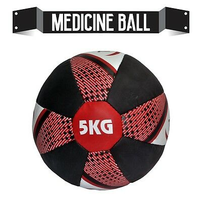 Heavy Duty Medicine Ball 5kg A Leather  Fitness Gym Exercise Training Cross Fit