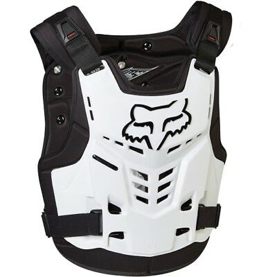 NEW Fox Racing ProFrame Kids Youth Armour WHITE Chest Protector MX Motocross