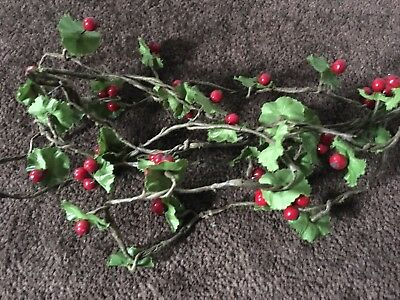 Christmas Holly Berry Garland