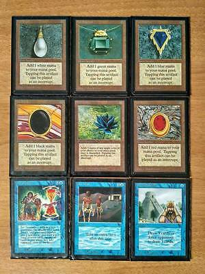 MTG Magic The Gathering Power 9 nine Perfect set Lote Black Lotus Mox Ruby Dual