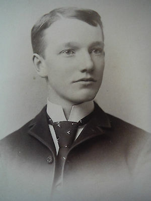 Cabinet Card/ Doolittle Montrose PA / Handsome Young Man with tie