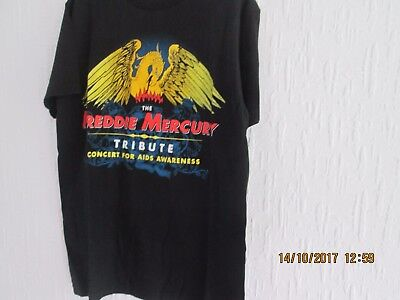 A mint condition Freddie Mercury concert T shirt concert for AIDS awareness
