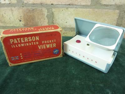A nice vintage Paterson illuminated pocket slide viewer in box
