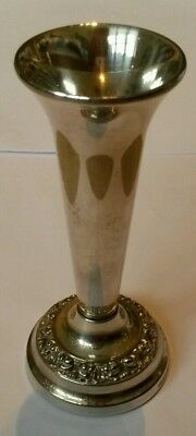 Silver plated rose vase Ianthe of England