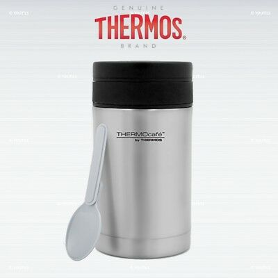 Thermos ThermoCafe Food Flask with Plastic Spoon Stainless Steel 500 ml