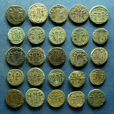 Lot of 25 GLORY OF ARMY Roman Bronze Coins