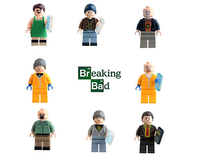 Figurine custom breaking bad compatible lego