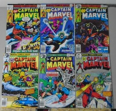 Captain Marvel #57-62 1st series final issues vs Thor & Drax 1979 lot of 6