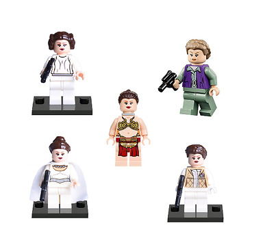 Figurine Custom Star Wars compatible lego princesse leia