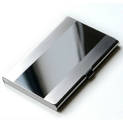 UK New Stainless Steel Silver Aluminium Business ID Credit Card Holder Case Cove