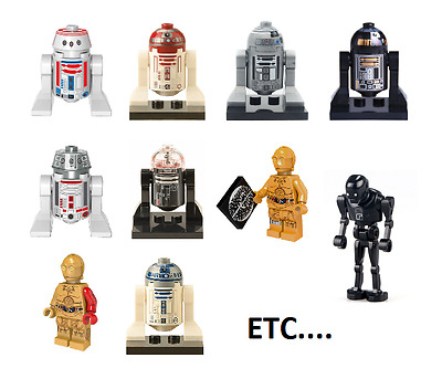 Figurine custom Droid Star Wars compatible lego
