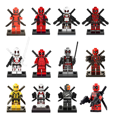 Figurine custom deadpool Marvel compatible lego