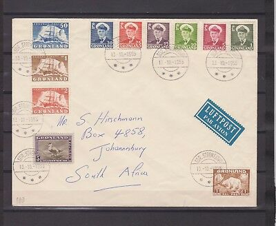 GREENLAND - Postal History - Airmail Cover to Johannesburg, South Africa - 1955