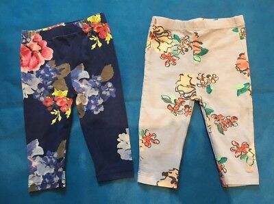 Two pairs of girls Joules Leggings 3-6 months