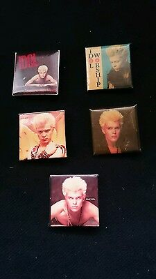 Billy Idol vintage Five Small Badge Pins