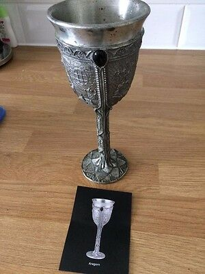 Lord of the rings 1996 pewter goblet - Aragon