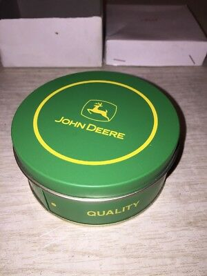 Set of 6 John Deere Coasters in Metal Tin