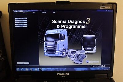SCANIA DEALER LEVEL DIAGNOSTIC Toughbook CF 52 MK3 SDP3 2.31 For Vci2 And Vci3