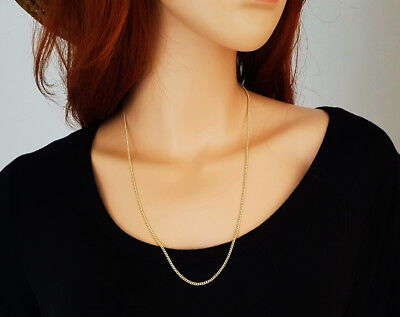 24 inch 18ct Gold Curb Chain Necklace