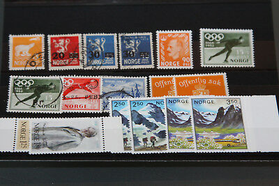 Norway - Selection Of Unmounted Mint And Used Issues In Stockcard