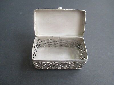 Pill Box...STERLING SILVER..weave style...solid/sturdy...New...Taxco