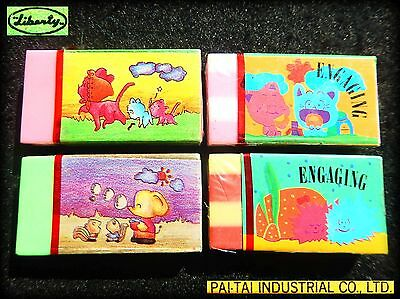 🐭 Vintage 1980 LIBERTY Sealed ERASERS gomme gommine Animali Animals KAWAII Cute
