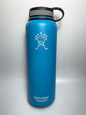 Light Blue 40oz Hydro Flask Insulated Stainless Steel Water Bottle, Wide Mouth