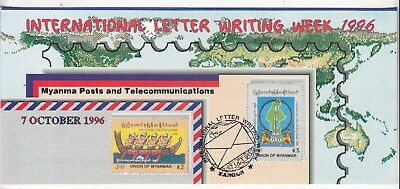 Burma/Myanmar: Myanma P&T Complimentary Folder International Letter Writing 1996