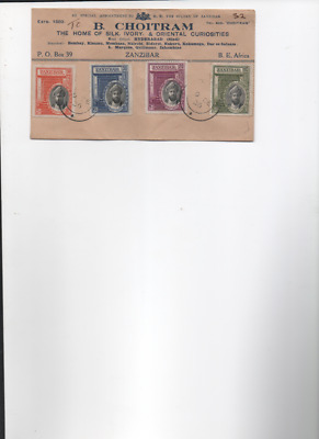 Zanzibar 1936 Silver Jubilee set on First Day Cover