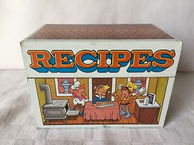 Vintage Kellogg's Snap, Crackle And Pop Recipes Tin Box