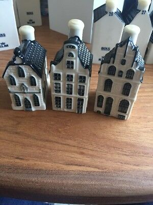 Klm Bols Delft House, Sealed AND EMPTY, No. 7, 19 And 22