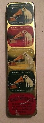 Vintage Gramophone Needle Outfit His Masters Voice Tin