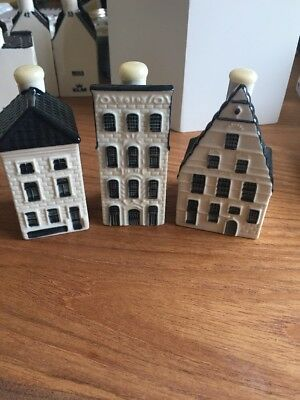 Klm Bols Delft House, Sealed AND EMPTY,No. 26, 27 And 35