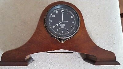 Cricklewood Works Car Clock with wood display surround