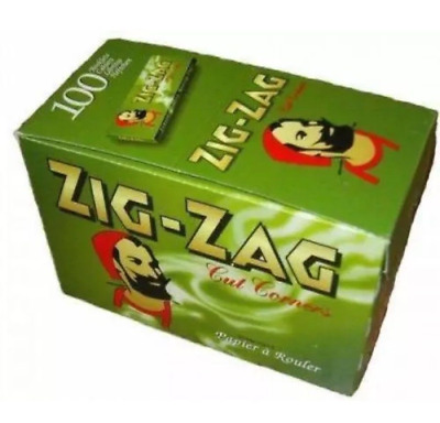 Zig Zag Tobacco Rolling Papers Green Cut Corner Full Boxes of 2, 3 or 4 Free P&P