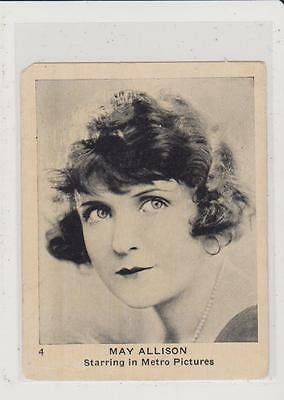 1922 Strollers Cigarettes Movie Stars May Allison #4