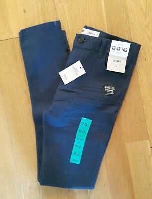 boys navy skinny chinos 12 13 new with tags