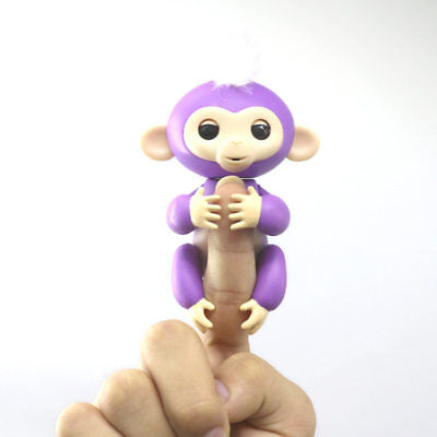 2017 Hot Purple Mia Interactive Finger Baby Monkey Toy Intelligent inducti Gift