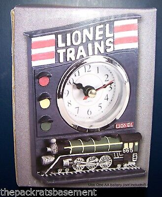 LIONEL TRAINS POLYSTONE CLOCK  New in Box  Lionel Collector Must  FREE SHIPPING