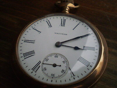 Antique Gold Plated Pocket Watch Working Watch