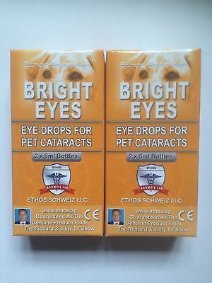 Ethos Bright Eyes NAC Carnosine Eye Drops for Pets Cataracts 20ml 2 boxes
