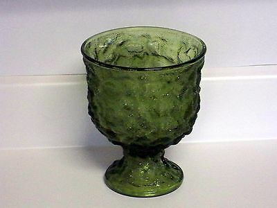 E.O.Brody Green Glass Footed Vase USA