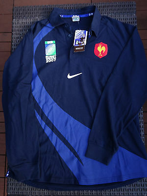 Maillot XV de France - Taille XL - NEUF ! Coupe du monde Rugby 2007 Nike FFR