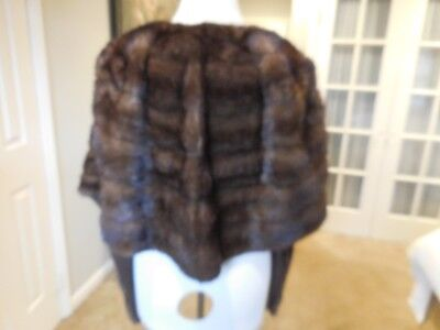 Vintage Plus Size Mahogany Mink Stole/wrap/shawl For Repair